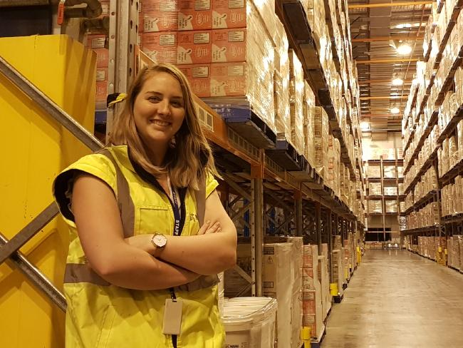 Chontelle Kellyis a next gen supply chain graduate at Nestlé and part of Deakin's Wayfinder initiative. Picture: Supplied