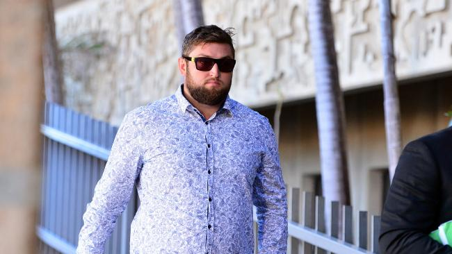 Jamie Edward Tavener leaves Townsville Magistrates Court. Picture: Zak Simmonds