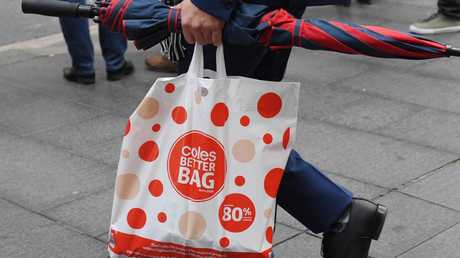 Coles and Woolworths have found customers to be more resistant to the plastic bag ban than anticipated. Picture: AAP Image/Peter RAE.