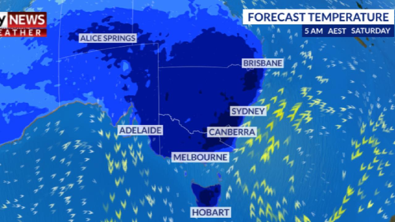 'Coldest temperatures so far this winter': Chilly weather forecast for Australia's east. Picture: Sky News