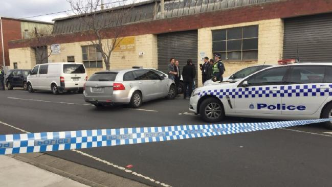 The warehouse at Oakleigh South where a body was found on Friday. Picture: Twitter: @James_Oaten
