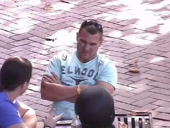 A police surveillance picture of Matthew Wiggins, who was found guilty in June 2018 of murdering ex Comanchero Darko Janceski.