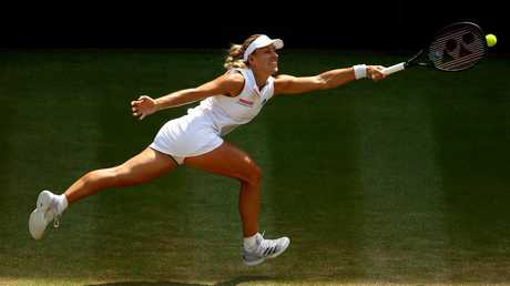 Angelique Kerber's relentless retrieving proved the difference. Picture: getty.