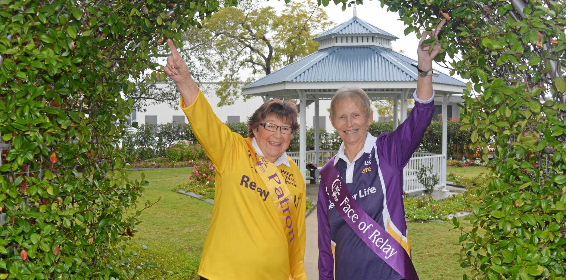 RAISING AWARENESS: Patron Jenny Ryan and 2017 Face of the Relay Barbara Martin are ready for another year of relay.