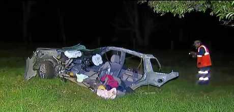 Police described the crash scene as
