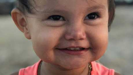 Sienna Rose Pereira died of the flu on July 8. Picture: Channel 7