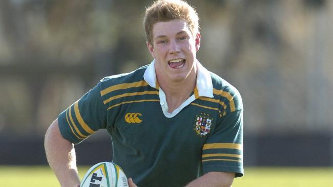 David Pocock training with the Australian schoolboys team in 2005.
