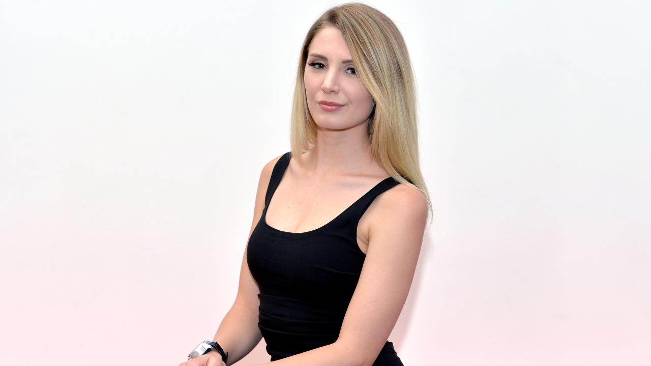 Lauren Southern poses for a photo in Brisbane.