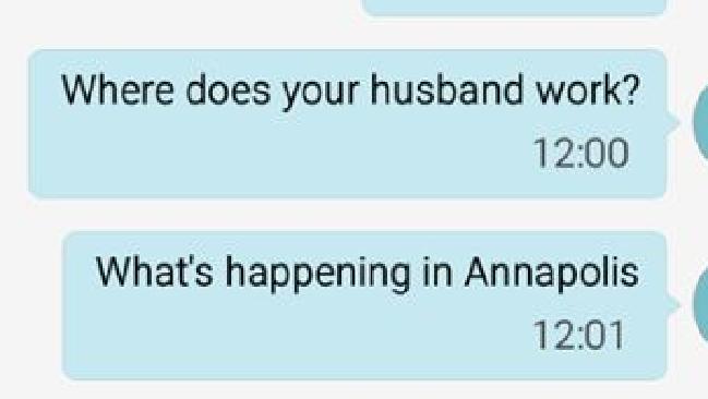 Andrea Chamblee said she began to receive strange texts. Picture: News Corp Australia