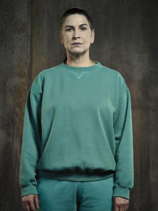 Puppeteer: Pamela Rabe as Joan 'The Freak' Ferguson.  Picture: Foxtel.