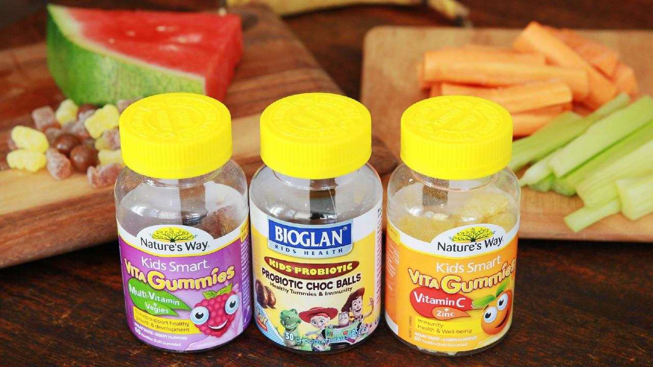 There's been a surge in the sales of children's vitamins and supplements being sold as gummy bears and chocolate-flavoured balls. Picture: Nic Gibson