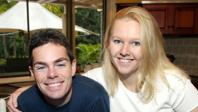 Natalie Lowndes back in the day with then husband Craig Lowndes.