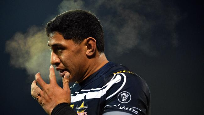 Jason Taumalolo could not stop another Cowboys loss in Canberra. (AAP Image/Mick Tsikas)