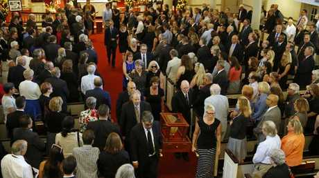 A special service was held for the beloved reporter on Tuesday. Picture: AP Photo/Patrick Semansky