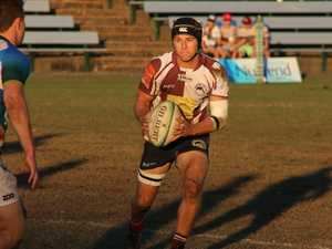 Noosa Dolphins Fly half Tim Matters in action against