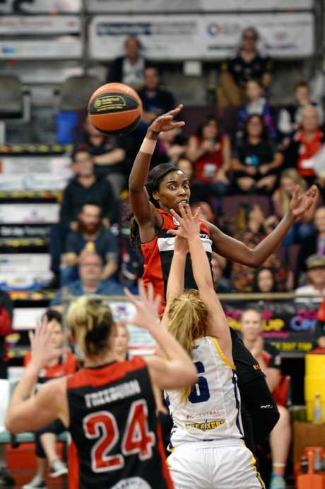 Mackay Meteorettes v Gladstone Power in Round 12 of the Womens QBL