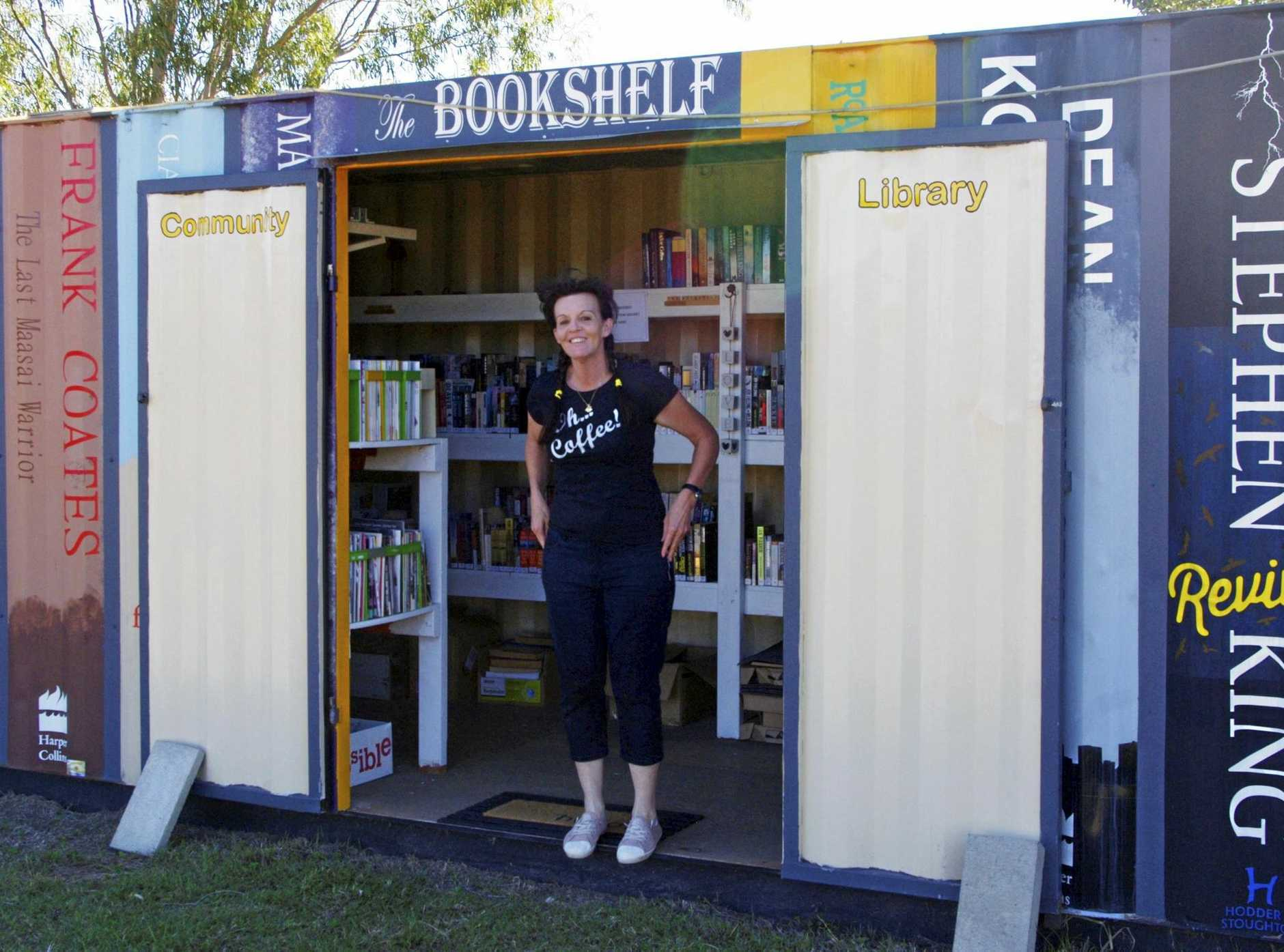 SELF CONTAINED LIBRARY: Amanda Turner at the Turkey Beach Community Library