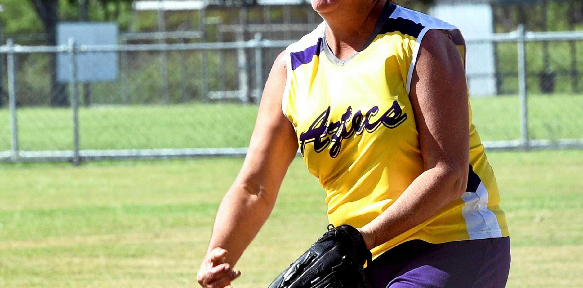 Maryborough softball grand finals - Women's A grade - Aztecs Apaches versus Sparx Hyne - Melissa Tobin.