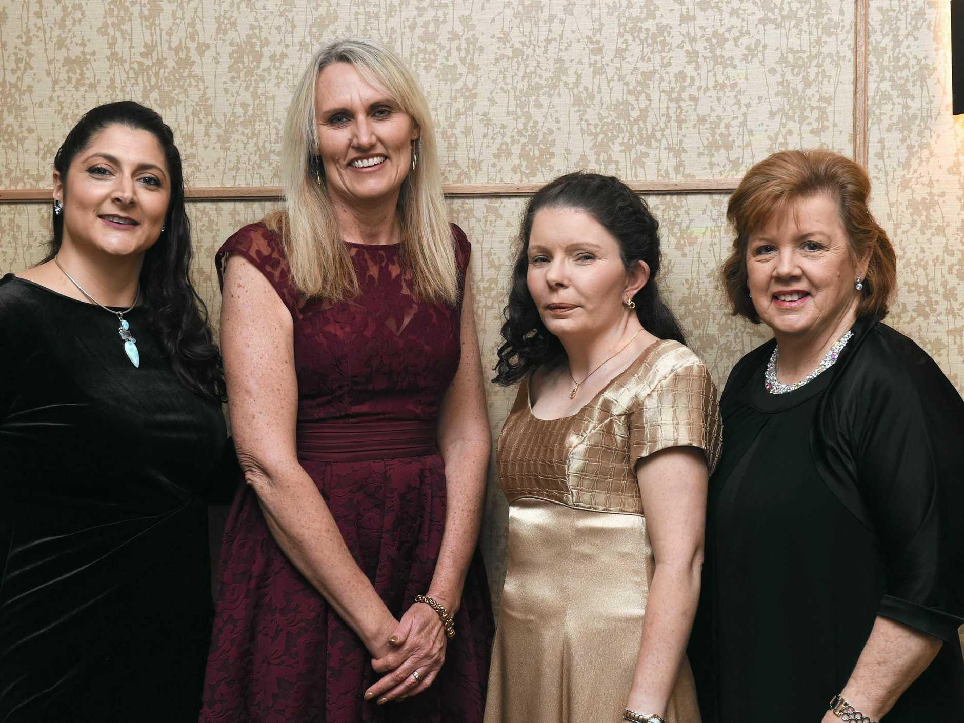 NAIDOC Ball 2018: Desiree McGann, Jenny Nehow, Veronica Read and Vicki Barrett.