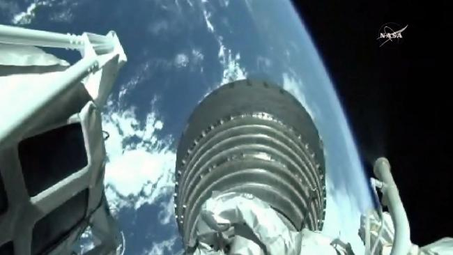 A view of Earth from the International Space Station. Picture: AFP/NASA TV
