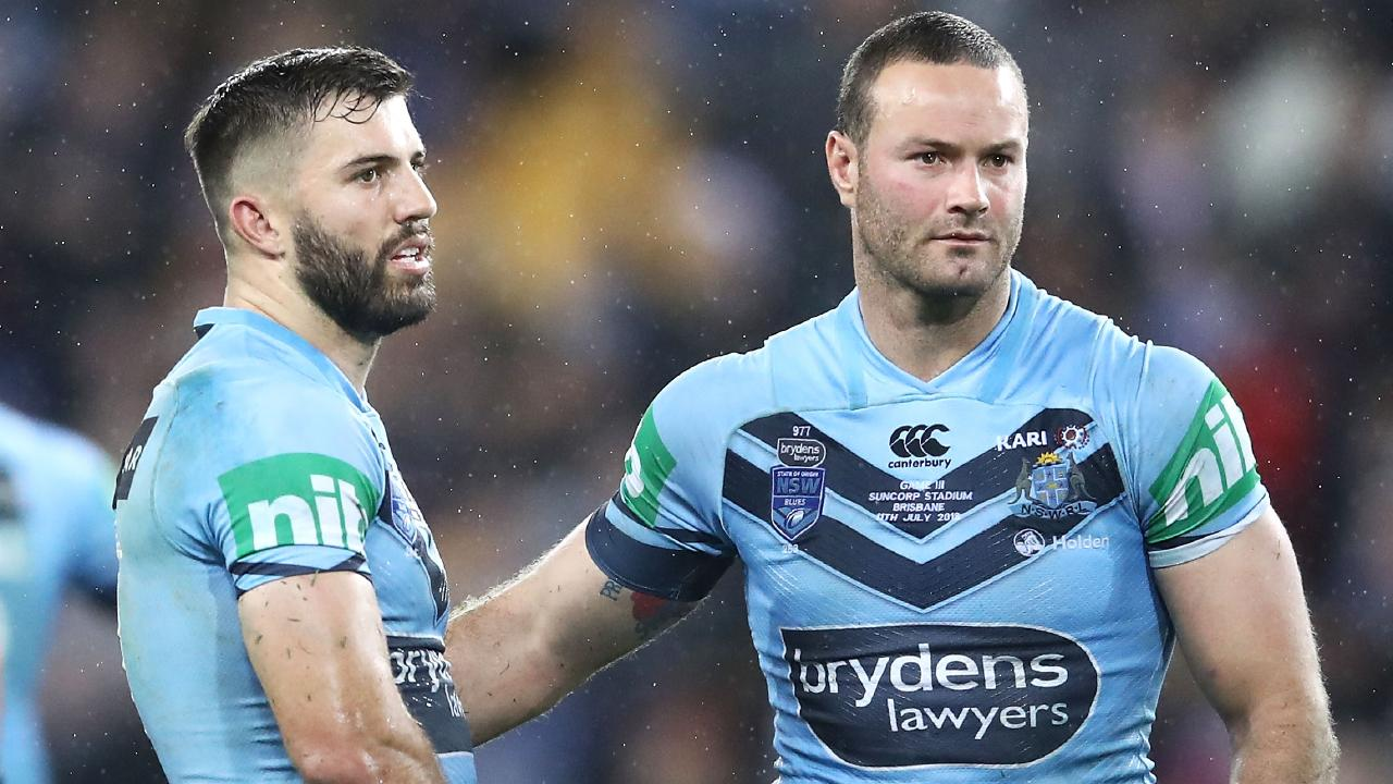 James Tedesco and Boyd Cordner of the Blues are both named in the Kangaroos merit team.