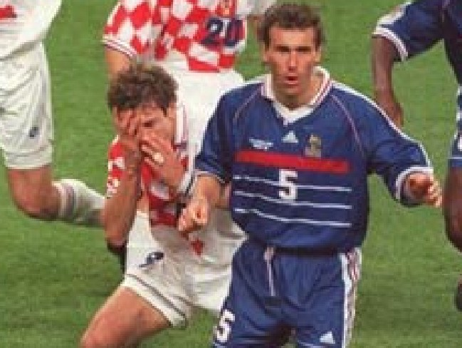 French and Croatian fans will remember this moment.