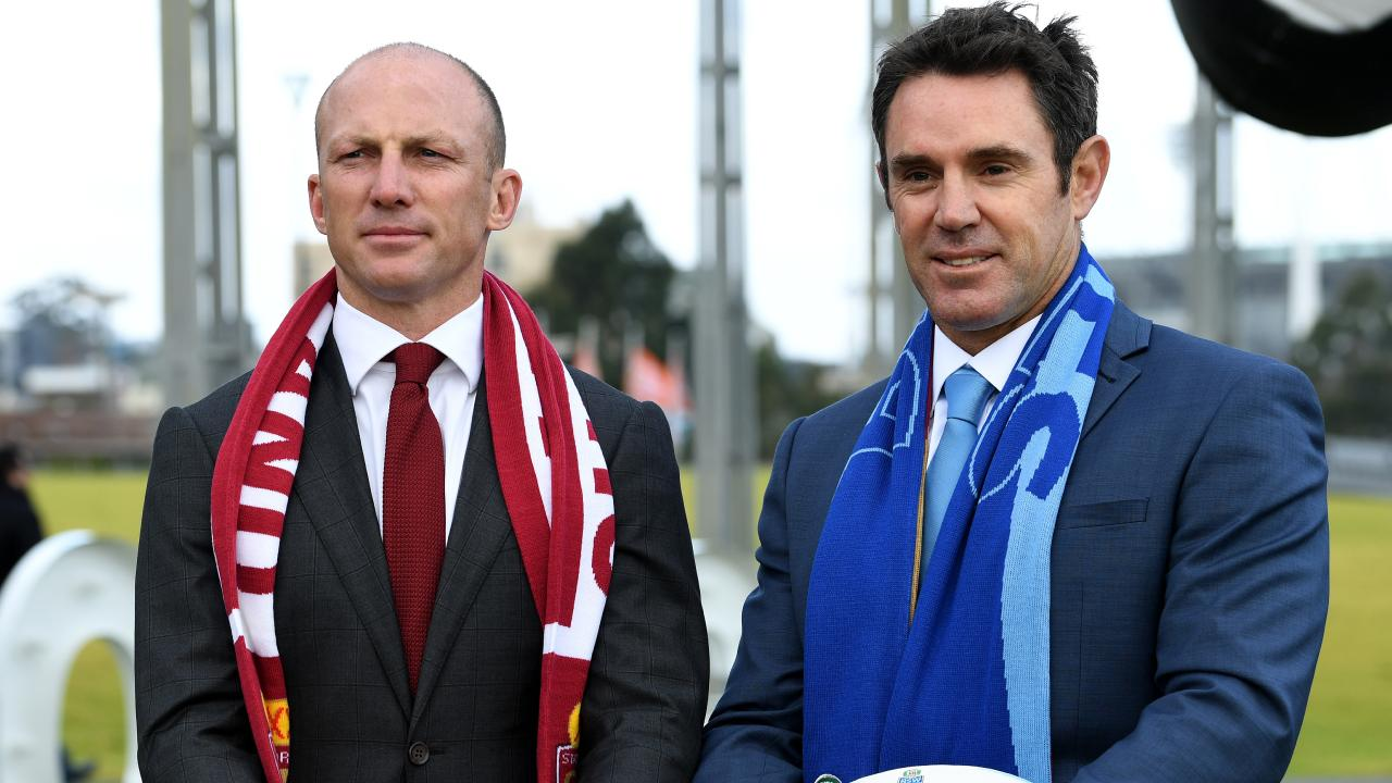 State of Origin legends Darren Lockyer and Brad Fittler.
