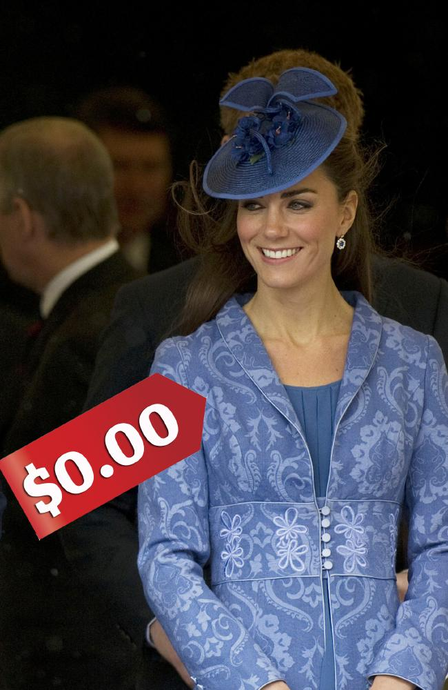 Kate is famous for recycling clothing, like what she did at the church service for Prince Phillip's 90th birthday in 2011. Picture: Getty Images