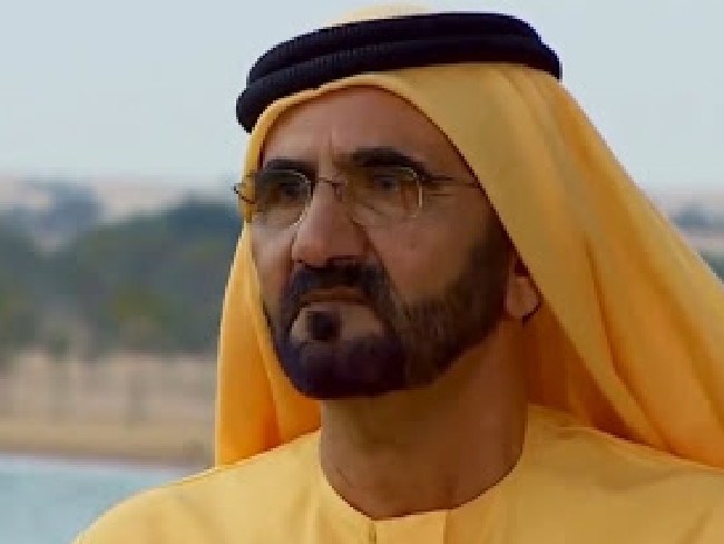 Dubai's ruler, and the princess' father, Sheikh Mohammed bin Rashid Al Maktoum.  Picture: Channel 9 / 60 Minutes