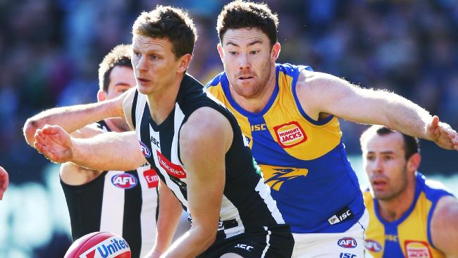 West Coast was all over the Magpies at the MCG. Picture: Michael Klein