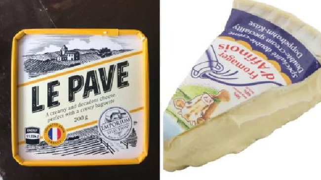 On the left we have Aldi's Le Pave cheese, which people say is better than d'Affinois (which costs three times as much).