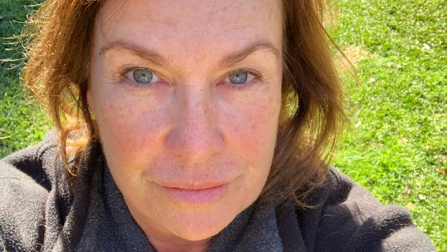 Tracy Grimshaw posted two makeup-free selfies.