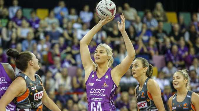 Goal attack Gretel Tippett was superb for the Firebirds. Picture: AAP