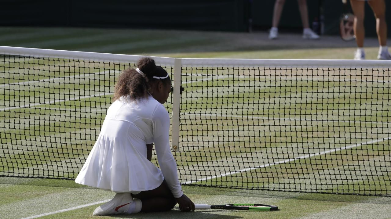 Serena Williams bowed out in a little over an hour.