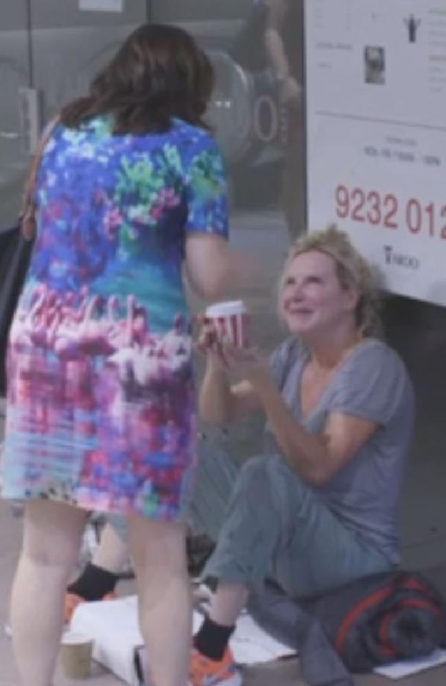 A random act of generosity brings Leckie to tears. Picture: SBS