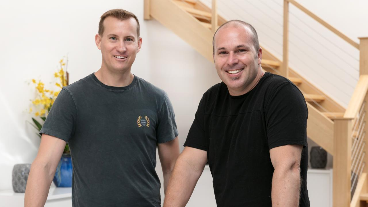 The Property Mentors, Luke Harris (left) and Matthew Bateman, have shared their top tips for adding value to your home. Picture: Supplied