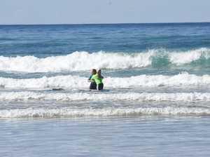 Lennox Head surfer Ocea Curtis congratulates Jordy