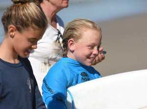 Lennox Head surfer Ocea Curtis competes in Oz Grom