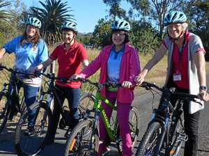 Getting the girls together to get active on the rail trail