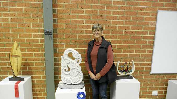 MYTHOLOGICAL: Clarence River Arts Festival sculpture category winner Jenny Hadimioglu.