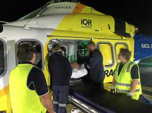 Man crushed for hours in Gympie region truck crash