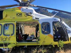 Bush walker falls 15 metres into steep gully