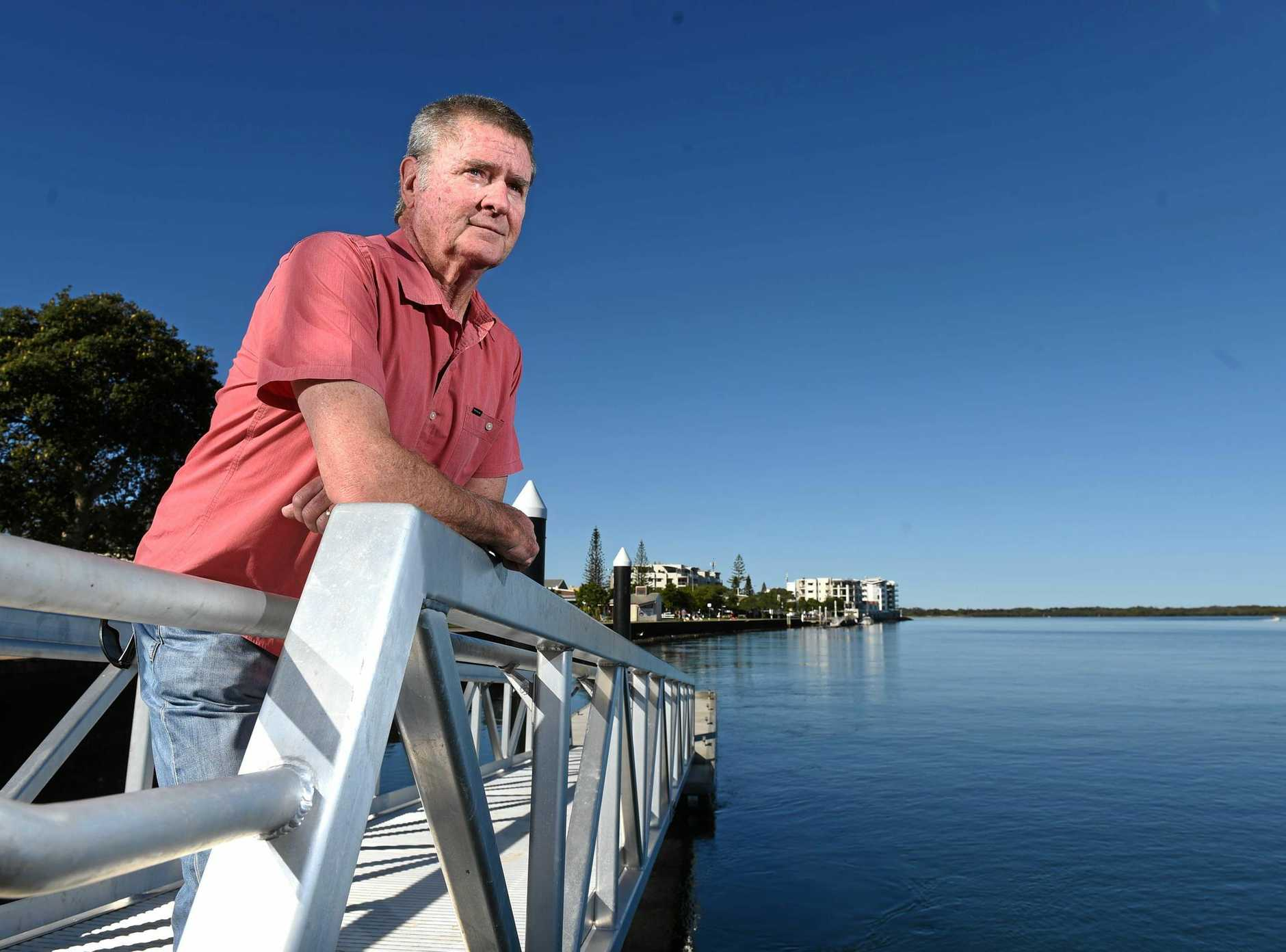 Chris Cooke, 65, was at the Ballina RSL Club with his wife, daughter and 19-month-old grandson when he decided to take his grandson for a walk in his pram to look at the river.