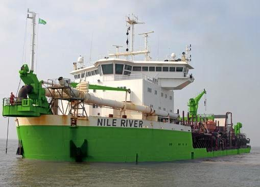 International dredging vessel The Nile River is due to start pumping sand onto the Sunshine Coast Airport expansion site by the end of the month.