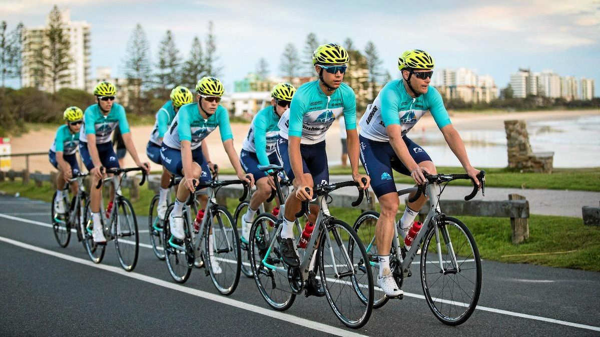 ON THE ROAD: ACA cyclists on a training ride.