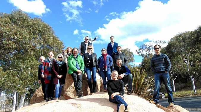 STEPS FORWARD: Representatives from the wine industry on the Granite Belt last week.