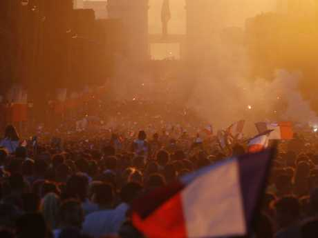 Perfect sunset for a perfect day in France. Picture: AP