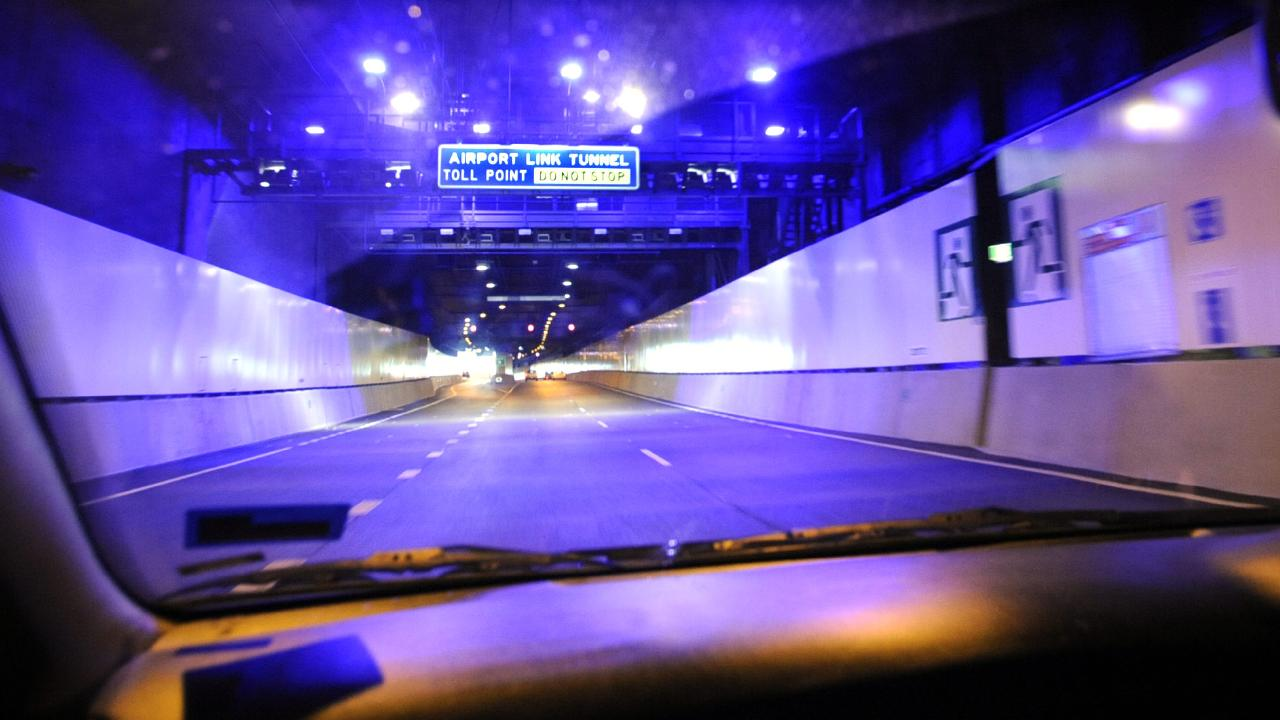 The Airportlink tunnel entrance at Bowen Hills.