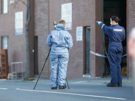 The body was found during a general clear out by the company in a bin shut with octopus straps. Picture: Sarah Matray
