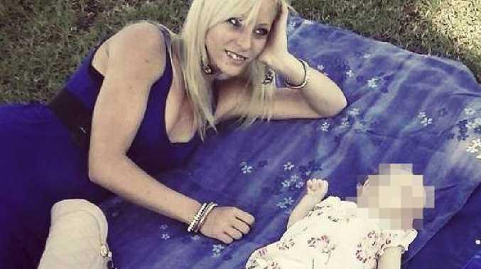 Nicole Wetzler with her baby girl. Picture: Facebook